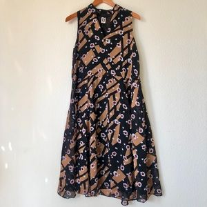 Anne Klein Floral Sleeveless Dress | 8
